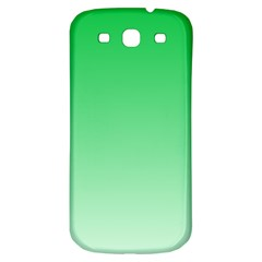 Dark Pastel Green To Pastel Green Gradient Samsung Galaxy S3 S III Classic Hardshell Back Case