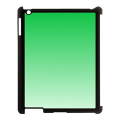 Dark Pastel Green To Pastel Green Gradient Apple iPad 3/4 Case (Black)