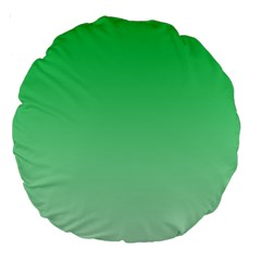 Dark Pastel Green To Pastel Green Gradient 18  Premium Round Cushion