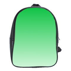 Dark Pastel Green To Pastel Green Gradient School Bag (XL)