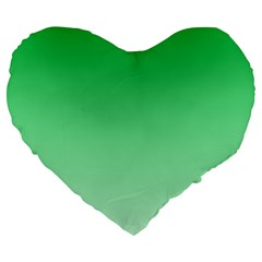 Dark Pastel Green To Pastel Green Gradient 19  Premium Heart Shape Cushion