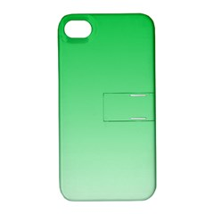 Dark Pastel Green To Pastel Green Gradient Apple Iphone 4/4s Hardshell Case With Stand