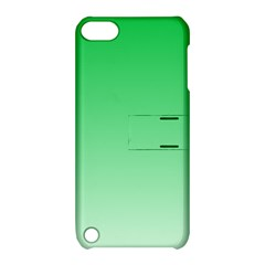 Dark Pastel Green To Pastel Green Gradient Apple iPod Touch 5 Hardshell Case with Stand