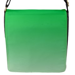 Dark Pastel Green To Pastel Green Gradient Flap Closure Messenger Bag (small)