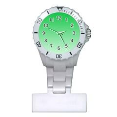 Dark Pastel Green To Pastel Green Gradient Nurses Watch