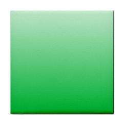 Pastel Green To Dark Pastel Green Gradient Ceramic Tile