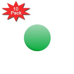 Pastel Green To Dark Pastel Green Gradient 1  Mini Button (10 Pack)