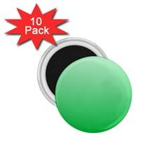 Pastel Green To Dark Pastel Green Gradient 1.75  Button Magnet (10 pack)