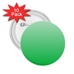 Pastel Green To Dark Pastel Green Gradient 2.25  Button (10 pack)
