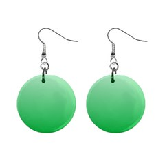 Pastel Green To Dark Pastel Green Gradient Mini Button Earrings