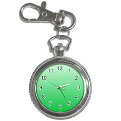 Pastel Green To Dark Pastel Green Gradient Key Chain & Watch