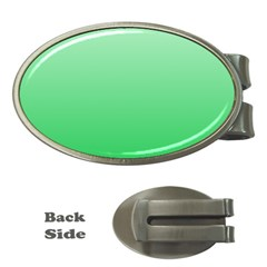 Pastel Green To Dark Pastel Green Gradient Money Clip (Oval)