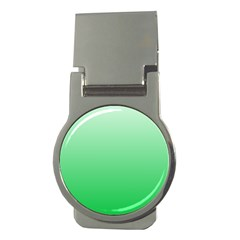 Pastel Green To Dark Pastel Green Gradient Money Clip (Round)