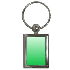 Pastel Green To Dark Pastel Green Gradient Key Chain (Rectangle)