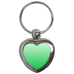 Pastel Green To Dark Pastel Green Gradient Key Chain (Heart)