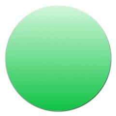 Pastel Green To Dark Pastel Green Gradient Magnet 5  (Round)