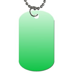 Pastel Green To Dark Pastel Green Gradient Dog Tag (one Sided)