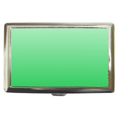 Pastel Green To Dark Pastel Green Gradient Cigarette Money Case