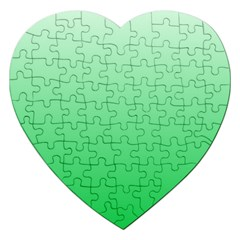Pastel Green To Dark Pastel Green Gradient Jigsaw Puzzle (Heart)