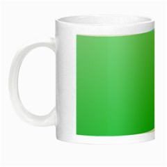 Pastel Green To Dark Pastel Green Gradient Glow In The Dark Mug