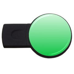 Pastel Green To Dark Pastel Green Gradient 4GB USB Flash Drive (Round)