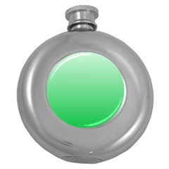 Pastel Green To Dark Pastel Green Gradient Hip Flask (Round)