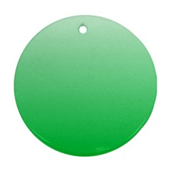 Pastel Green To Dark Pastel Green Gradient Round Ornament (Two Sides)