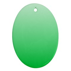 Pastel Green To Dark Pastel Green Gradient Oval Ornament (two Sides)