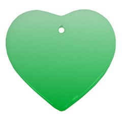 Pastel Green To Dark Pastel Green Gradient Heart Ornament (two Sides)