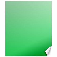 Pastel Green To Dark Pastel Green Gradient Canvas 8  X 10  (unframed)