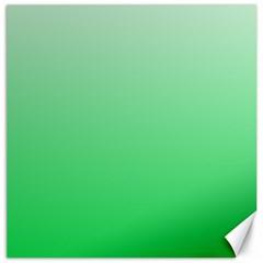 Pastel Green To Dark Pastel Green Gradient Canvas 12  x 12  (Unframed)