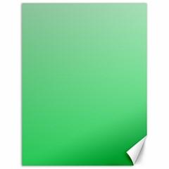Pastel Green To Dark Pastel Green Gradient Canvas 12  x 16  (Unframed)