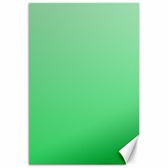 Pastel Green To Dark Pastel Green Gradient Canvas 12  X 18  (unframed)