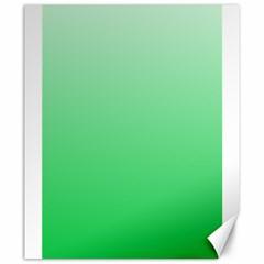 Pastel Green To Dark Pastel Green Gradient Canvas 20  x 24  (Unframed)