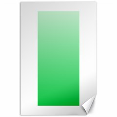 Pastel Green To Dark Pastel Green Gradient Canvas 24  x 36  (Unframed)