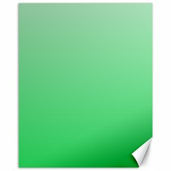 Pastel Green To Dark Pastel Green Gradient Canvas 11  X 14  (unframed)