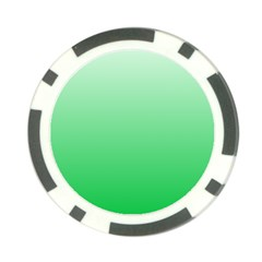 Pastel Green To Dark Pastel Green Gradient Poker Chip