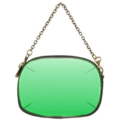Pastel Green To Dark Pastel Green Gradient Chain Purse (Two Side)