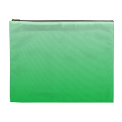 Pastel Green To Dark Pastel Green Gradient Cosmetic Bag (xl)