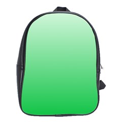 Pastel Green To Dark Pastel Green Gradient School Bag (Large)