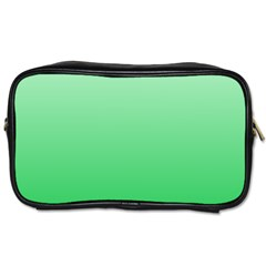 Pastel Green To Dark Pastel Green Gradient Travel Toiletry Bag (one Side)
