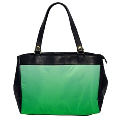 Pastel Green To Dark Pastel Green Gradient Oversize Office Handbag (One Side)