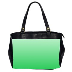 Pastel Green To Dark Pastel Green Gradient Oversize Office Handbag (two Sides)