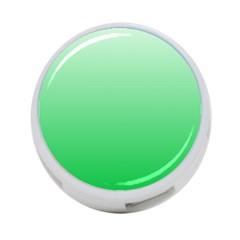 Pastel Green To Dark Pastel Green Gradient 4-Port USB Hub (Two Sides)