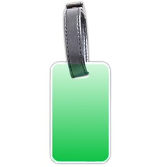 Pastel Green To Dark Pastel Green Gradient Luggage Tag (one Side)