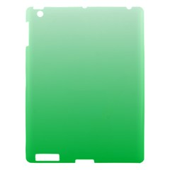 Pastel Green To Dark Pastel Green Gradient Apple iPad 3/4 Hardshell Case