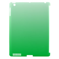 Pastel Green To Dark Pastel Green Gradient Apple iPad 3/4 Hardshell Case (Compatible with Smart Cover)