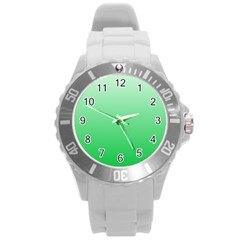Pastel Green To Dark Pastel Green Gradient Plastic Sport Watch (Large)