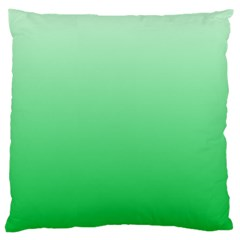 Pastel Green To Dark Pastel Green Gradient Large Cushion Case (two Sides)