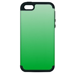 Pastel Green To Dark Pastel Green Gradient Apple iPhone 5 Hardshell Case (PC+Silicone)